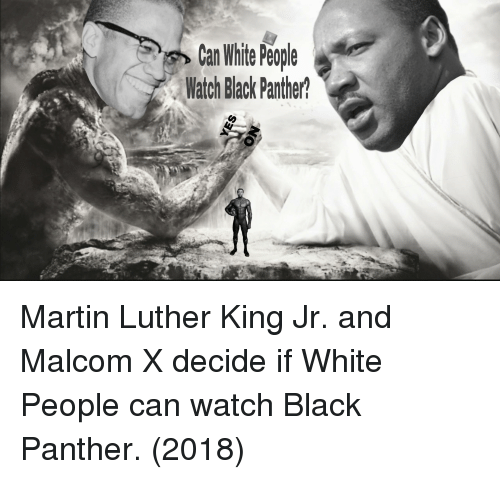 malcom x: Can Whie Peple  Watch Black Panther