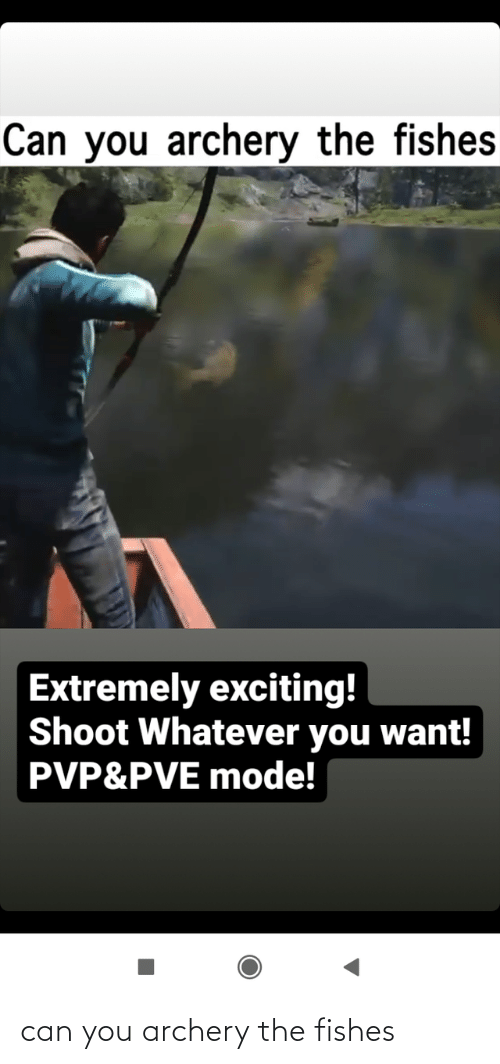 archery: can you archery the fishes