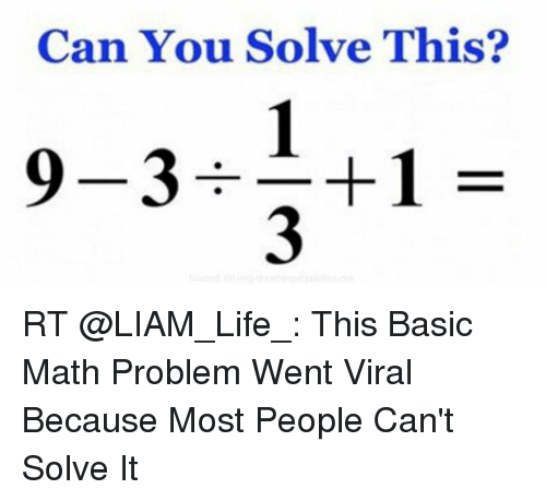 Can You Solve This Viral Math Puzzle That Is Boggling: Can You Solve This? So 1-3 Y3 C9 RT This Basic Math
