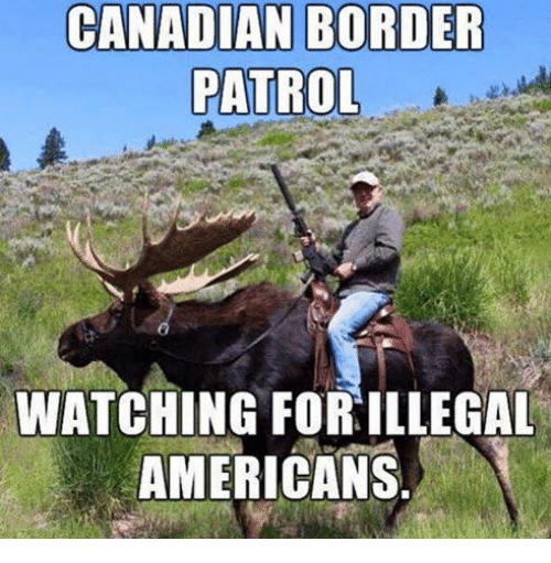 Canadian Border Patrol: CANADIAN BORDER  PATROL  WATCHING FORILLEGAL  AMERICANS