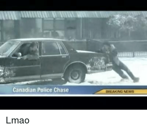 Canadian Police Chase BREAKING NEWS Lmao
