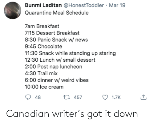 Canadian: Canadian writer's got it down
