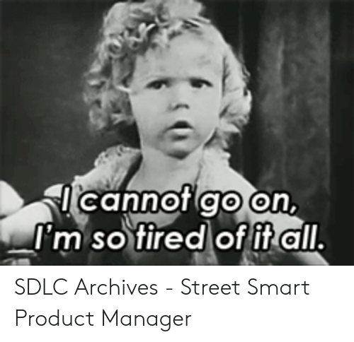 Pulling Hair Out Meme: cannot go on,  I'm so tired of fitall. SDLC Archives - Street Smart Product Manager