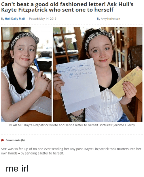 Can't Beat A Good Old Fashioned Letter! Ask Hull's Kayte