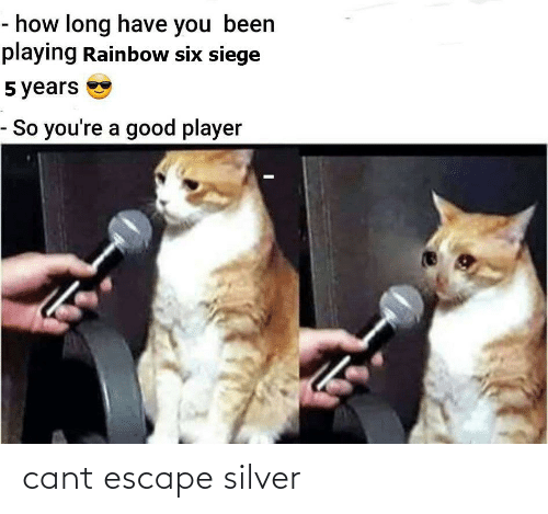 Silver: cant escape silver