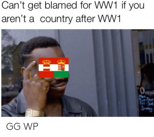 ww1: Can't get blamed for WW1 if you  aren't a country after WW1  pe  ri GG WP