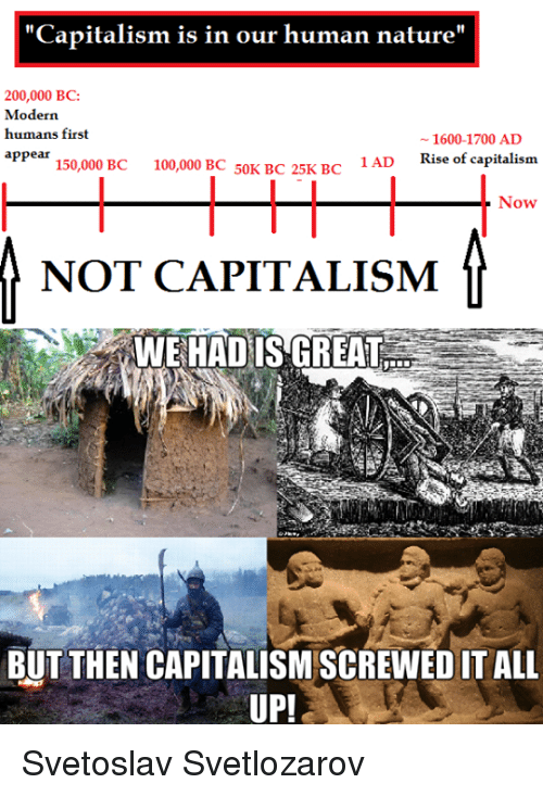 capitalism is in our human nature 200 000 bc modern humans 2751786 search natures call memes on me me,Human Nature Memes