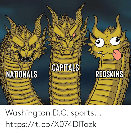 nationals: CAPITALS  REDSKINS  NATIONALS  @NFL MEMES Washington D.C. sports... https://t.co/X074DlTozk