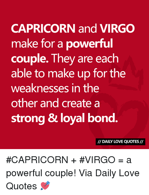 capricorn and virgo make for a powerful couple they are