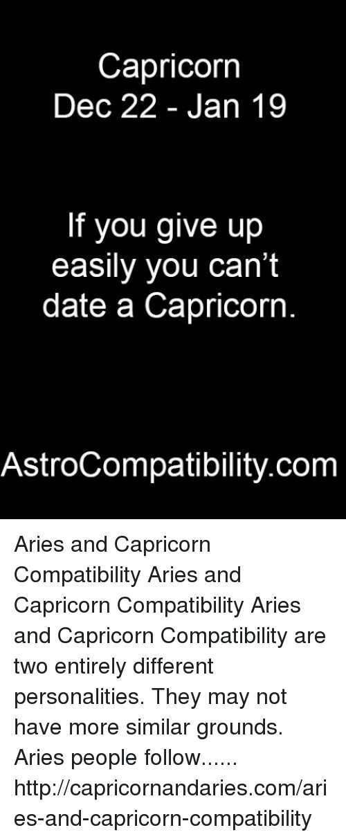 Aries dating Capricorn