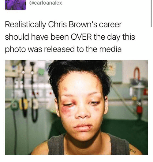 Chris Brown, Memes, and Browns: car loanalex  Realistically Chris Brown's career  should have been OVER the day this  photo was released to the media
