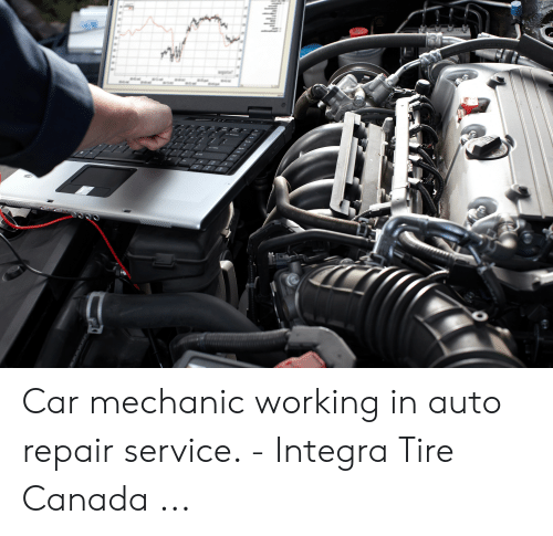 Car Repair Meme: Car mechanic working in auto repair service. - Integra Tire Canada ...