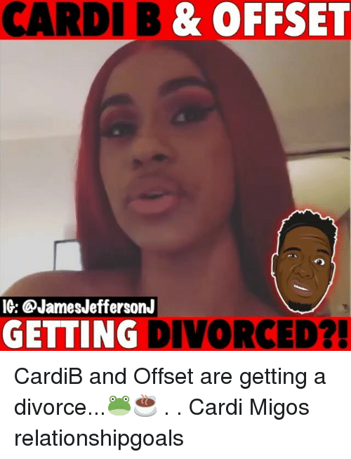Migos: CARDI B & OFFSET  IG: @JamesJeffersonJ  GETTING DIVORCED? CardiB and Offset are getting a divorce...🐸☕️ . . Cardi Migos relationshipgoals