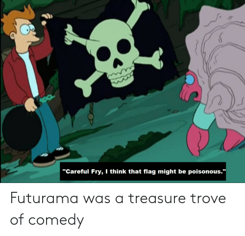 """fry: """"Careful Fry, I think that flag might be poisonous.""""  Futurama was a treasure trove of comedy"""