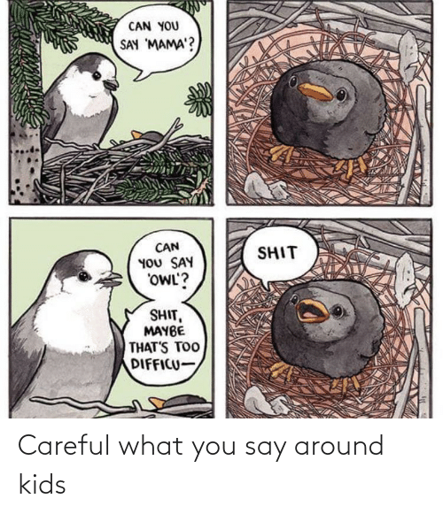 You Say: Careful what you say around kids