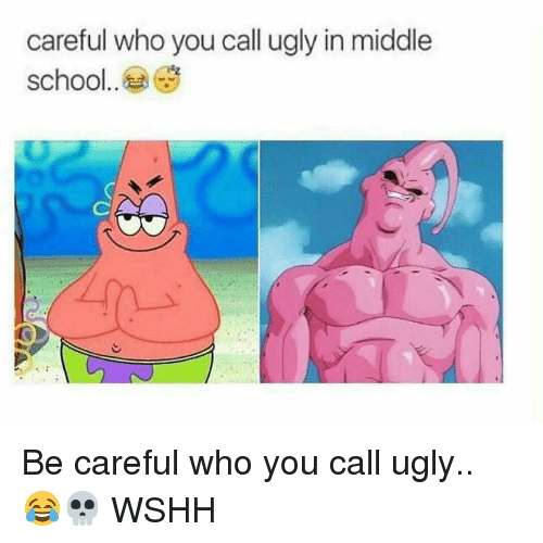 Memes, Ugly, and Wshh: careful who you call ugly in middle  school Be careful who you call ugly.. 😂💀 WSHH
