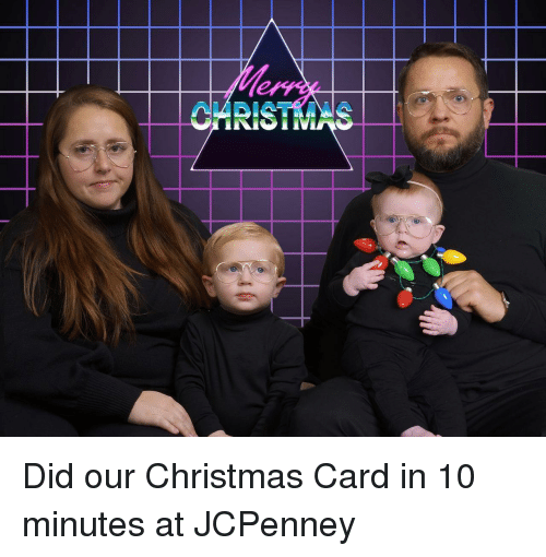 christmas-card: CARISTMAS Did our Christmas Card in 10 minutes at JCPenney