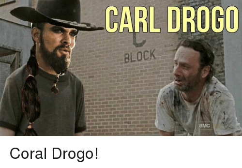 Game of Thrones: CARL DROGO  BLOCK  aMC Coral Drogo!