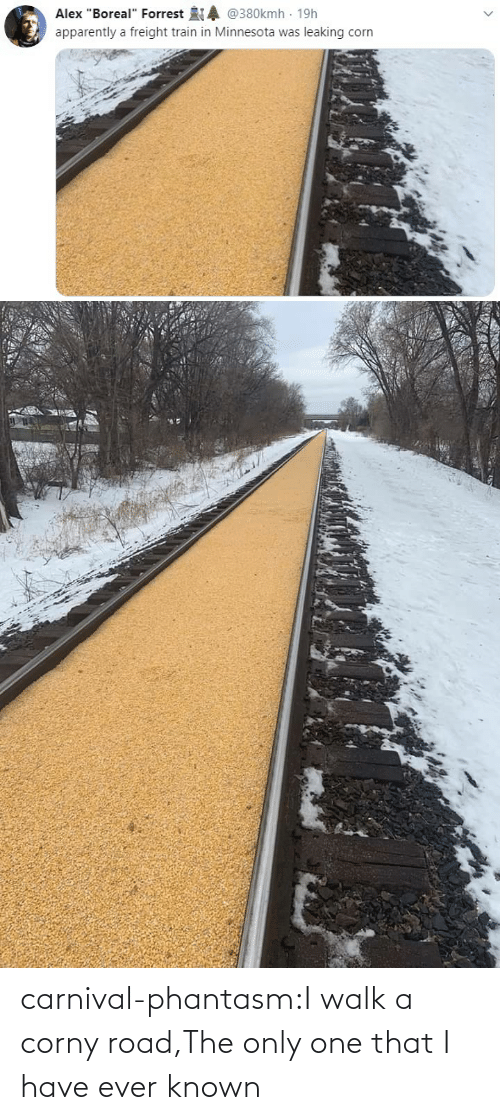 Corny: carnival-phantasm:I walk a corny road,The only one that I have ever known
