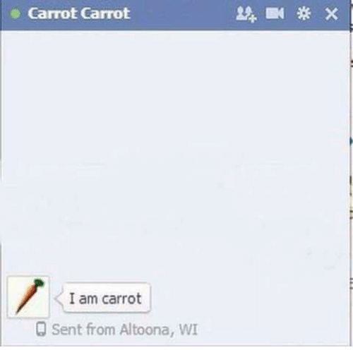 Italian (Language), Carrot, and  Carrots: Carrot Carrot  I am carrot  Sent from Altoona, WI