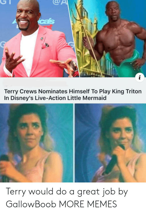 Terry Crews: cas  i  Terry Crews Nominates Himself To Play King Triton  In Disney's Live-Action Little Mermaid Terry would do a great job by GallowBoob MORE MEMES