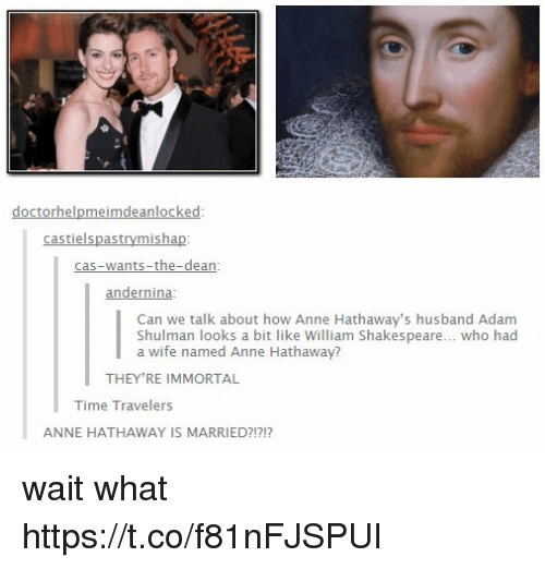 Anne hathaway and husband time travelers