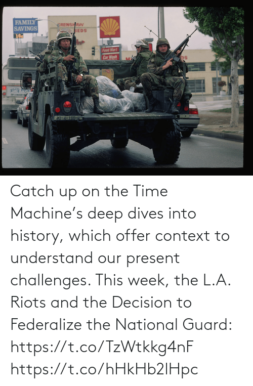 Into: Catch up on the Time Machine's deep dives into history, which offer context to understand our present challenges. This week, the L.A. Riots and the Decision to Federalize the National Guard: https://t.co/TzWtkkg4nF https://t.co/hHkHb2lHpc