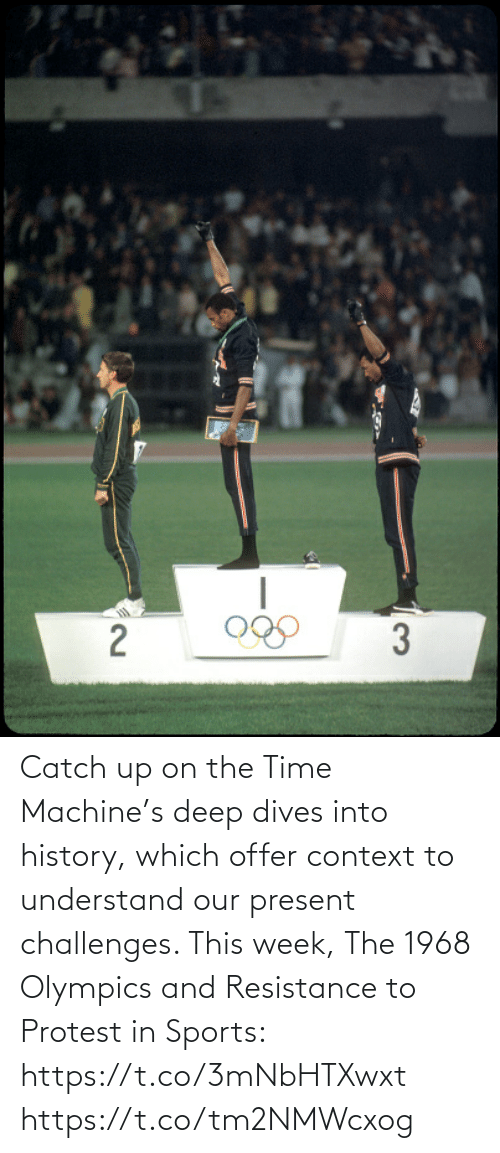 Into: Catch up on the Time Machine's deep dives into history, which offer context to understand our present challenges. This week, The 1968 Olympics and Resistance to Protest in Sports: https://t.co/3mNbHTXwxt https://t.co/tm2NMWcxog