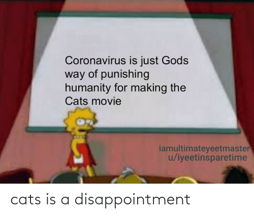 disappointment: cats is a disappointment
