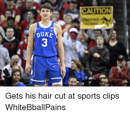 Basketball and White People: CAUTION  thurr NG  URE  JK 3 Gets his hair cut at sports clips WhiteBballPains
