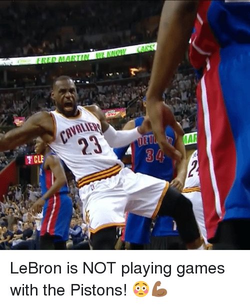 Cavaliers: CAVALIER  IT CLE  3  va 2 LeBron is NOT playing games with the Pistons! 😳💪🏾