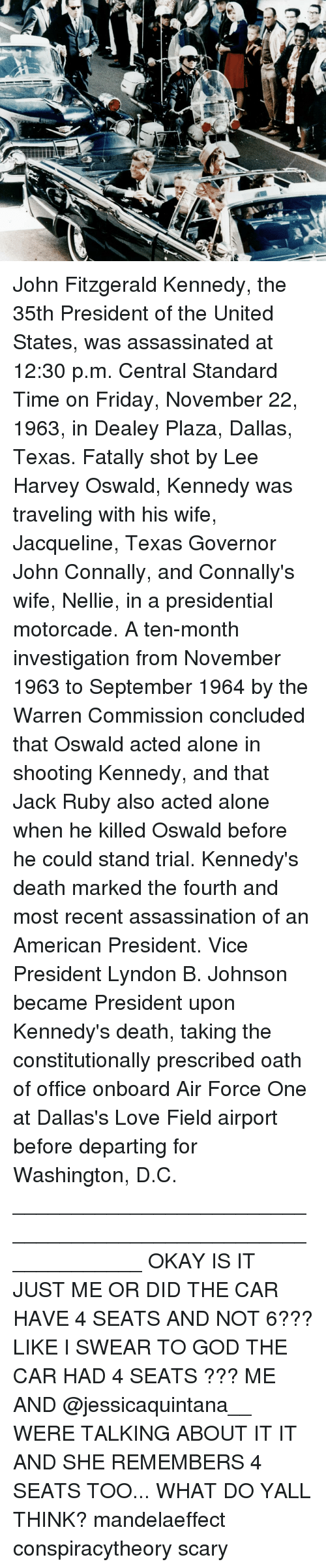 an overview of the death of president john f kennedy by lee harvey oswald and the warren commission  Read a free sample or buy lee harvey oswald:  after he shot president john f kennedy  americans are still skeptical of the warren commission.