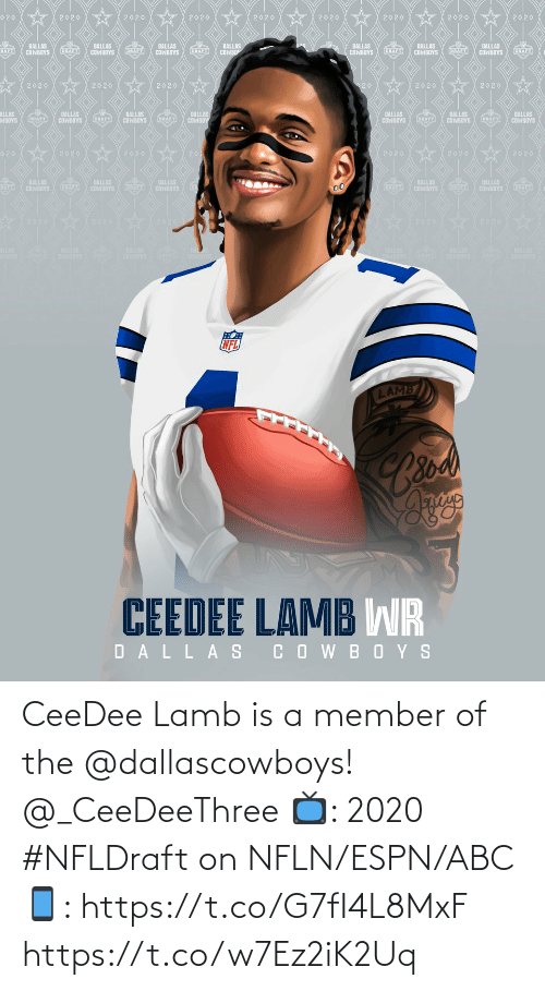 Member: CeeDee Lamb is a member of the @dallascowboys! @_CeeDeeThree   📺: 2020 #NFLDraft on NFLN/ESPN/ABC 📱: https://t.co/G7fI4L8MxF https://t.co/w7Ez2iK2Uq