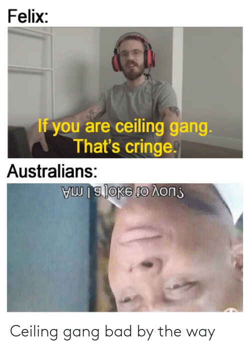 by the way: Ceiling gang bad by the way