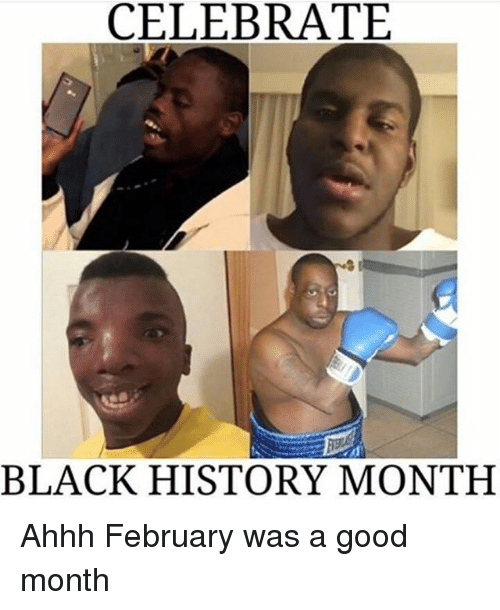 Memes, Ahhh, and 🤖: CELEBRATE  BLACK HISTORY MONTH Ahhh February was a good month