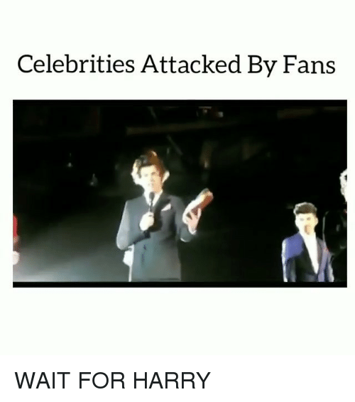 Memes, Celebrities, and 🤖: Celebrities Attacked By Fans WAIT FOR HARRY