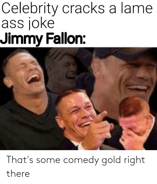 Jimmy Fallon: Celebrity cracks a lame  ass joke  Jimmy Fallon: That's some comedy gold right there