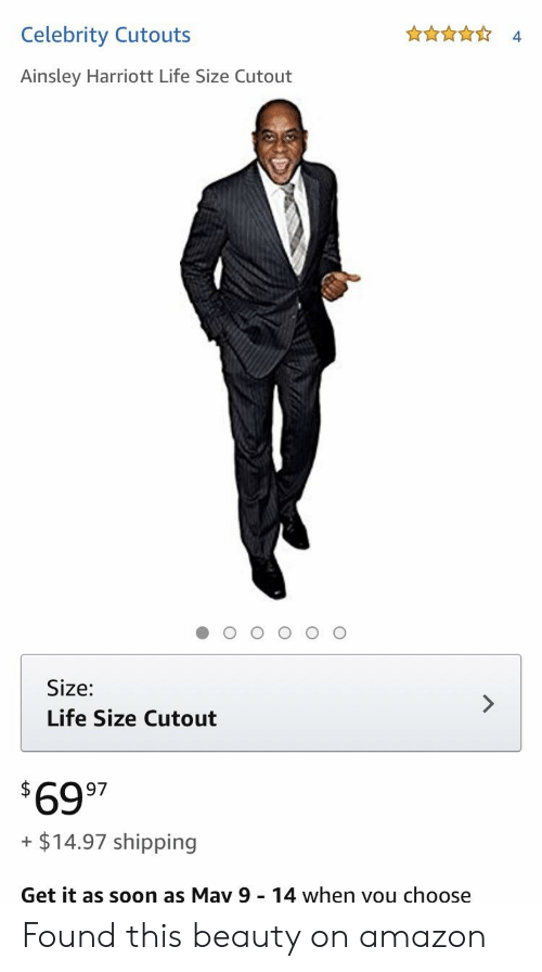 ainsley harriott: Celebrity Cutouts  4.  Ainsley Harriott Life Size Cutout  Size:  Life Size Cutout  6997  + $14.97 shipping  Get it as soon as May 9 14 when vou choose Found this beauty on amazon