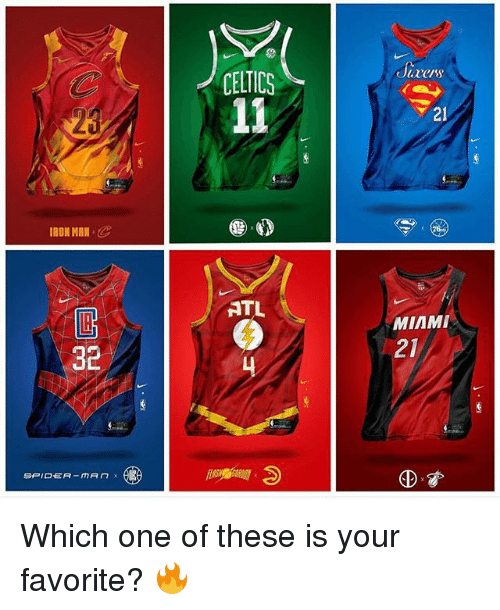 Iron Man, Memes, and Celtics: CELTICS  acers  20  21  IRON MAN C  ATL  MIAMI  32  21  由資 Which one of these is your favorite? 🔥
