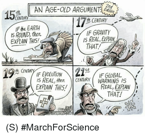 Earth, Gravity, and Cent: CENTURY  th CENTURY  IFthe EARTH  IF GRAVITY  IS ROUND then.  EXPAN THI5!  THAT!  Z1  St  CENT  IF GLOBAL  IS REAL, then CENTURY WARMING IS  REAL EXPAN  EXPAIN THIS  THAT (S) #MarchForScience