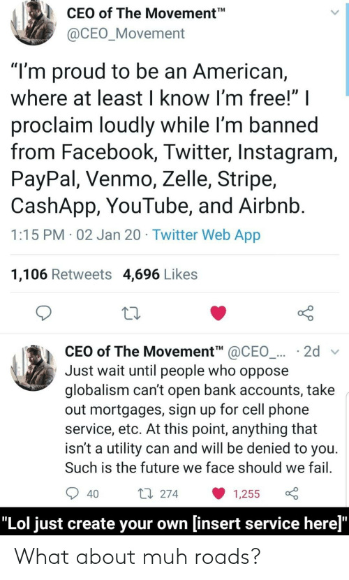 """Cant Open: CEO of The Movement  TM  @CEO_Movement  """"I'm proud to be an American,  where at least I know I'm free!"""" 