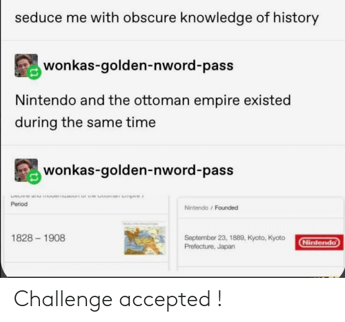 Accepted: Challenge accepted !
