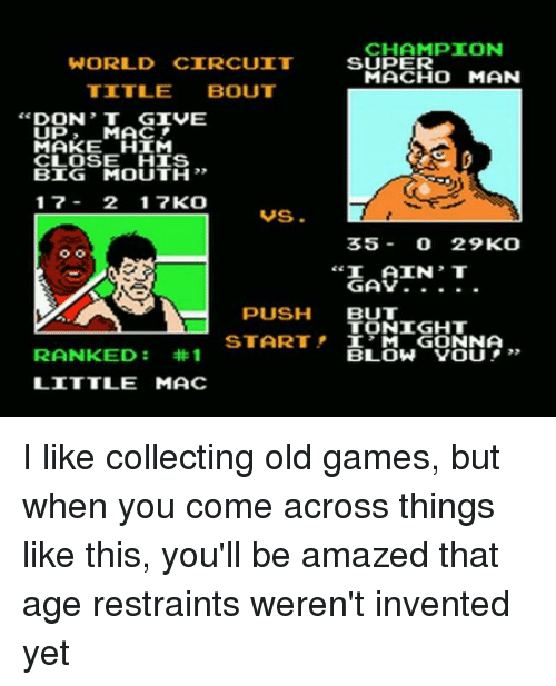 Memes, Games, and World: CHAMPION WORLD CIRCUIT SUPER MACHO MAN TITLE BOUT DON