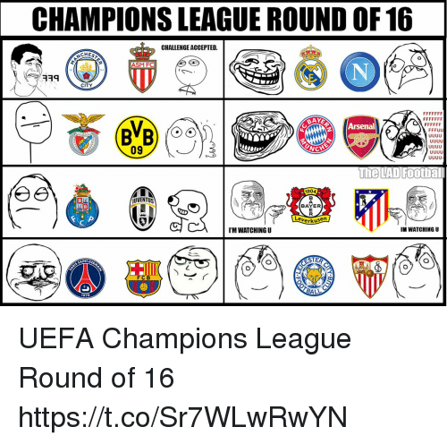 Uefa Champions League Round Of: CHAMPIONS LEAGUE ROUND OF16 CHALLENGE ACCEPTED CHEST ASM F