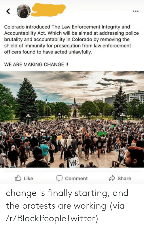 Protests: change is finally starting, and the protests are working (via /r/BlackPeopleTwitter)