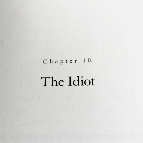 chapter: Chapter 10  The Idiot