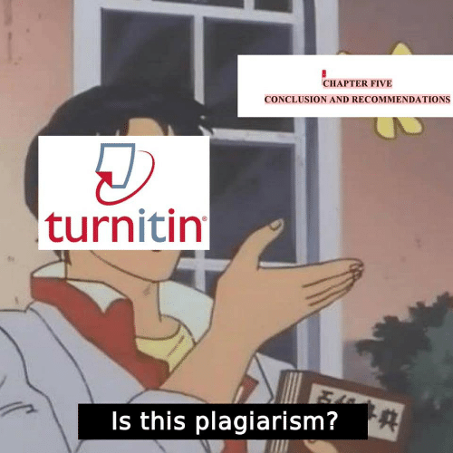 plagiarism: CHAPTER FIVE  CONCLUSION AND RECOMMENDATIONS  turnitin  Is this plagiarism?