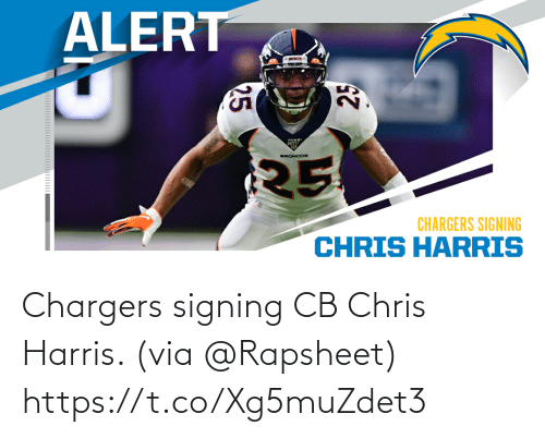 Signing: Chargers signing CB Chris Harris. (via @Rapsheet) https://t.co/Xg5muZdet3