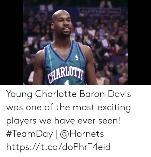 Baron Davis: CHARIONE Young Charlotte Baron Davis was one of the most exciting players we have ever seen!   #TeamDay   @Hornets https://t.co/doPhrT4eid