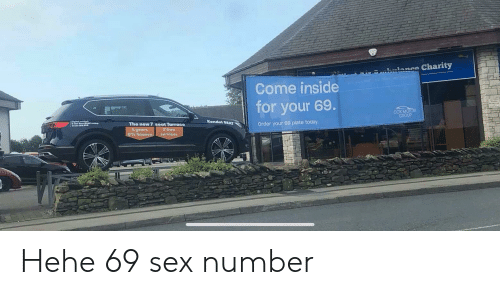 kendal: Charity  1ance  Come inside  for your 69.  COXMOTOR  GROUP  Kendal SEAT  The new 7seat Tarraco  Order your 69 plate today  4years  0% finance  2 free  services Hehe 69 sex number